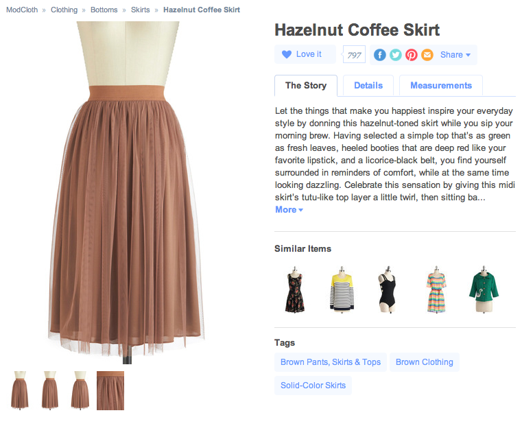 ModCloth Hazelnut Skirt