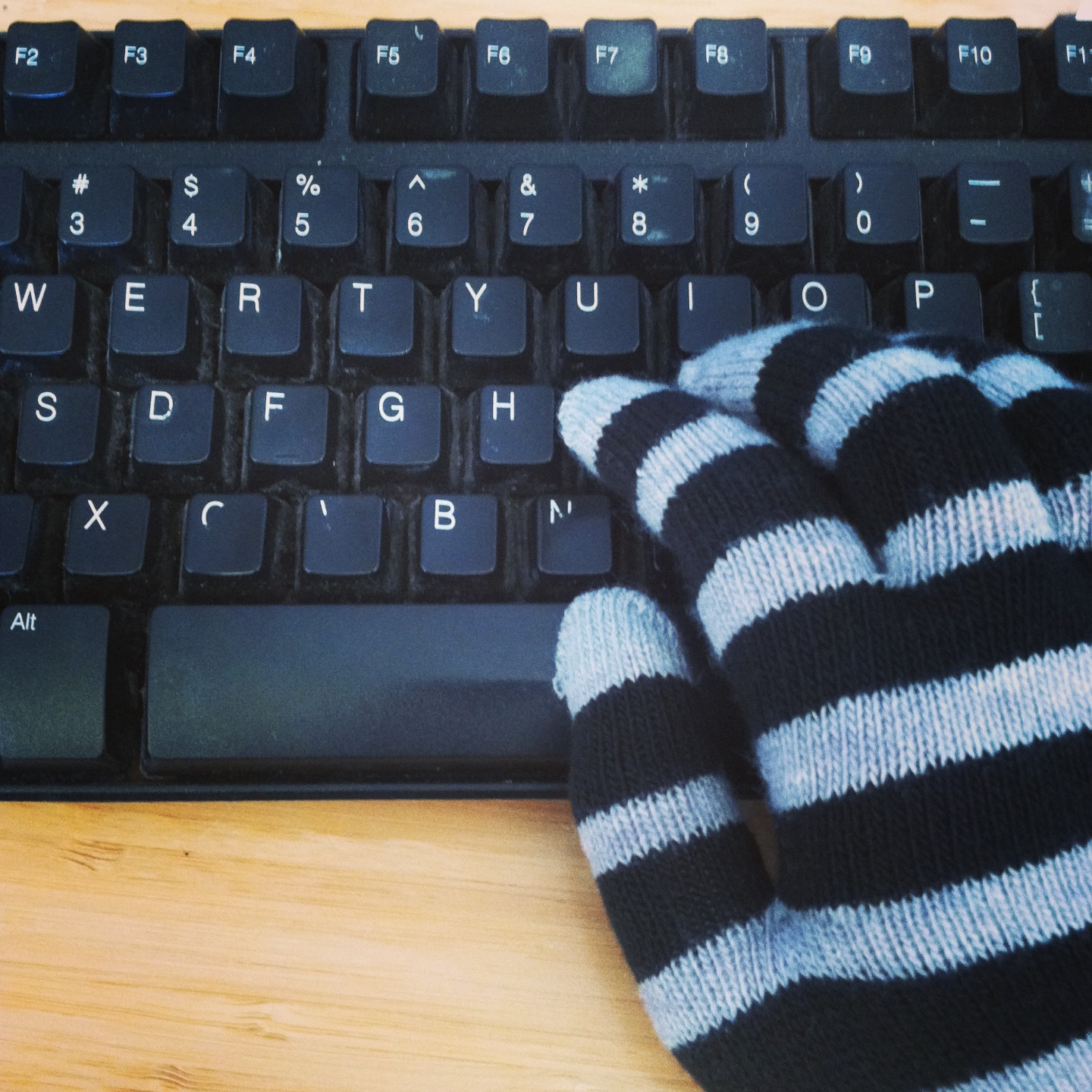 frozen to the keyboard