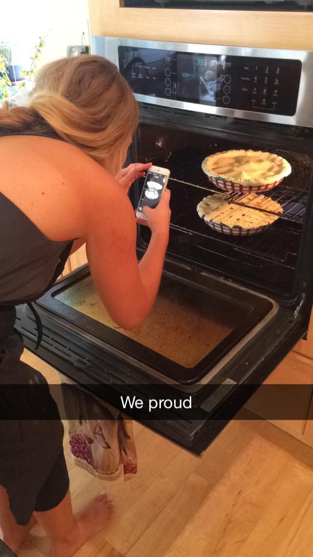 I made a peach pie! September 13, 2015 17