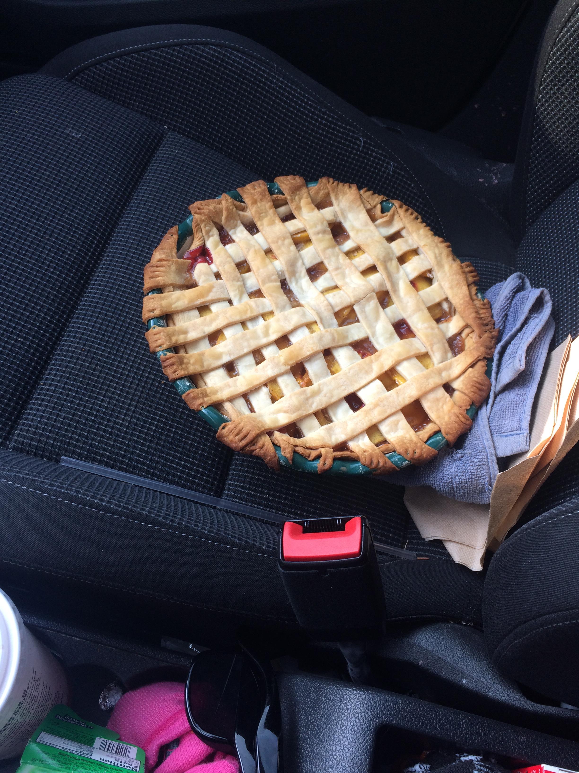 I made a peach pie! September 13, 2015 24