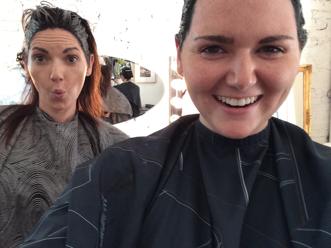 Sisters who do hair together….look great. August 29, 2015543